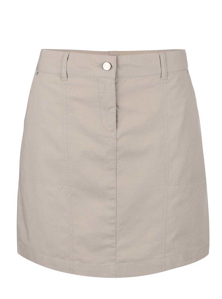 Krémová sukňa s vreckami Dorothy Perkins Petite