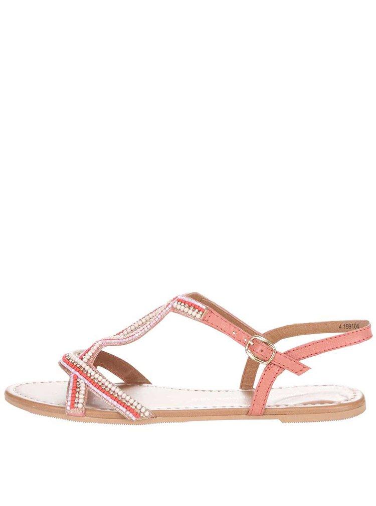 Růžové sandálky s barevnými kamínky Dorothy Perkins