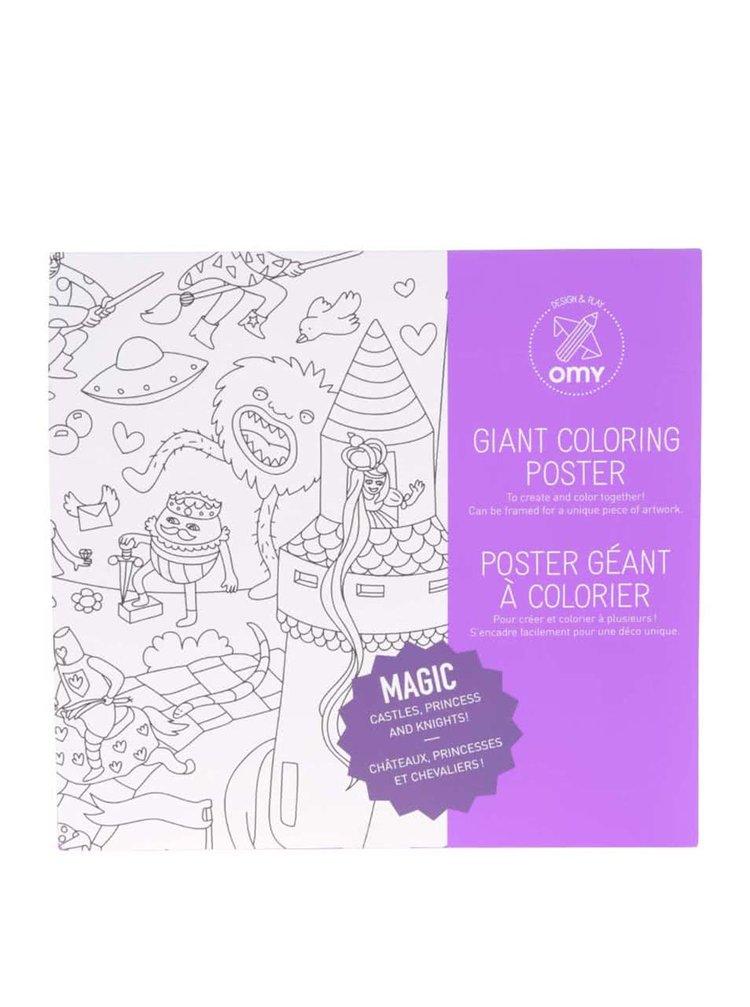 Poster de colorat Magic OMY