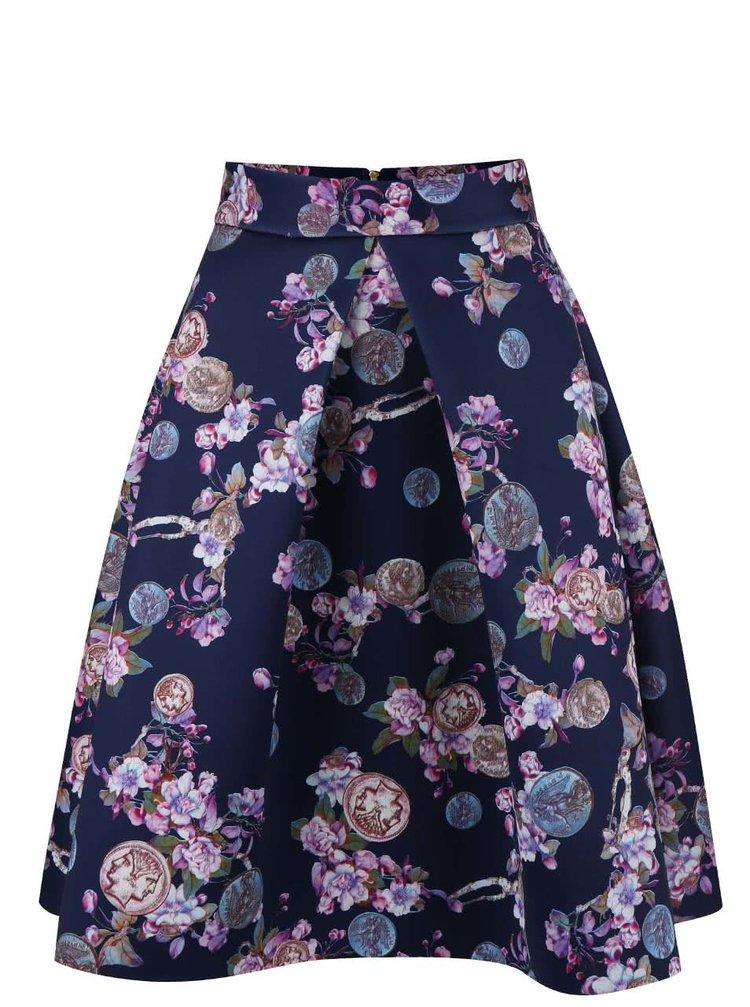 Fustă Closet bleumarin cu imprimeu floral