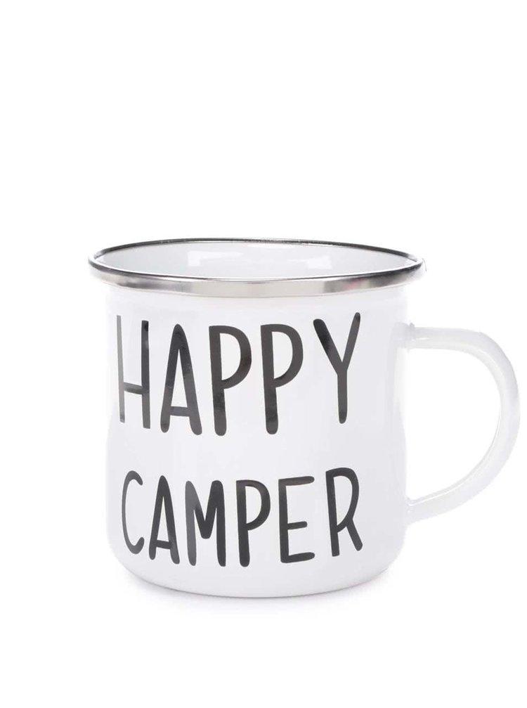 Bílý plechový hrnek Sass & Belle Happy Camper