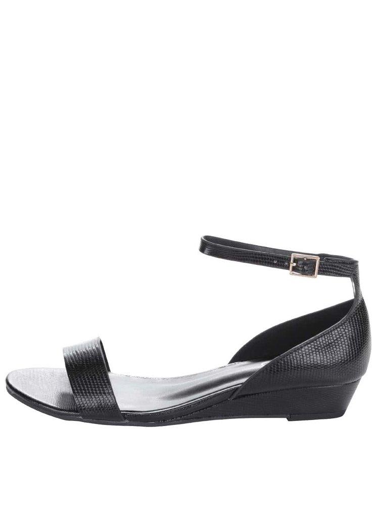 Čierne sandále na klinovom podpätku ALDO Kirwall