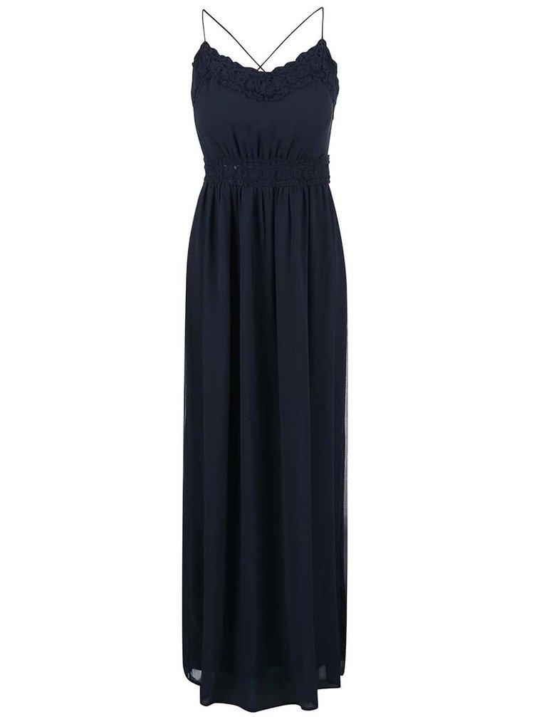 Rochie cu dantelă VILA Calas albastră
