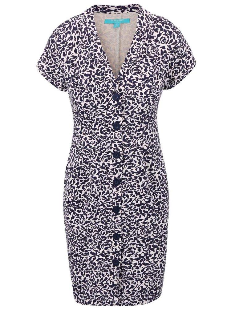 Modro-biele šaty Fever London Betty