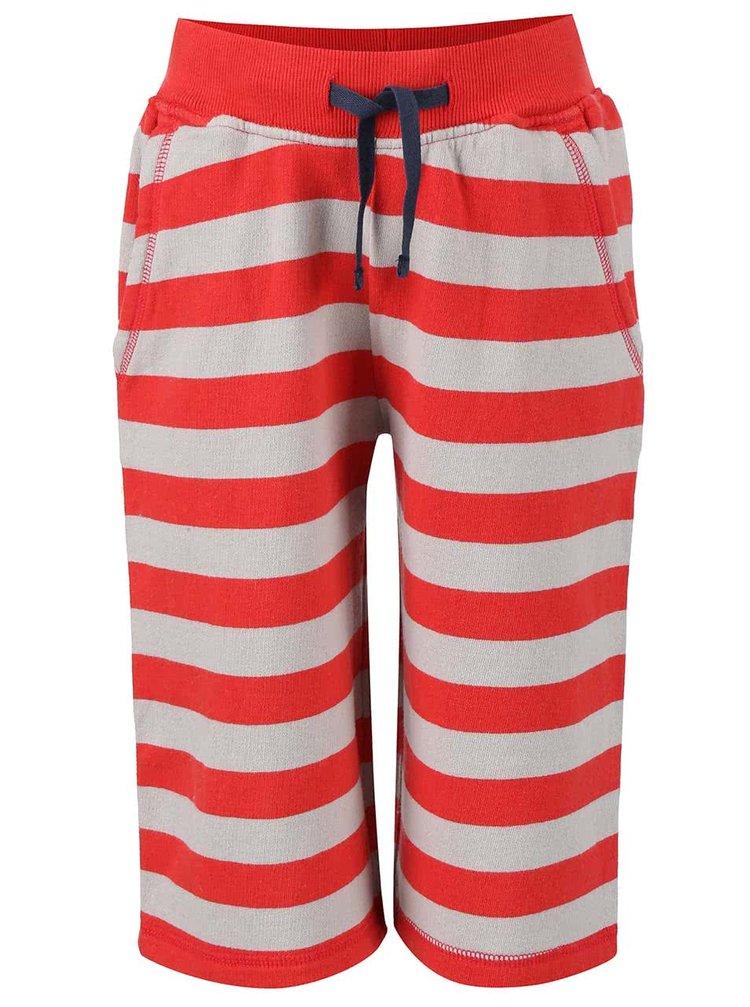 Pantaloni trei sferturi Frugi Samson roșii cu dungi