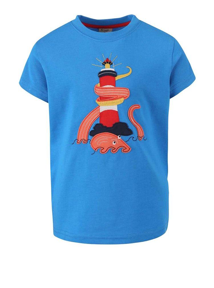 Modré chlapecké tričko s loďkou Frugi Stanley