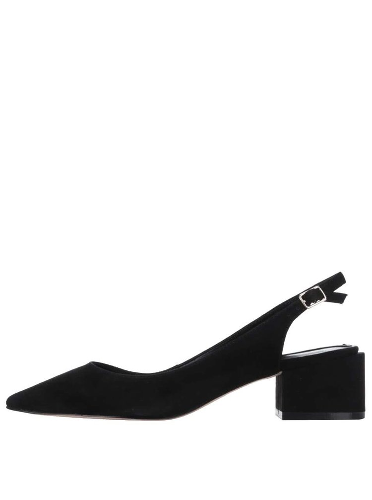 Černé semišové sandály s plnou špičkou ALDO Shirleys