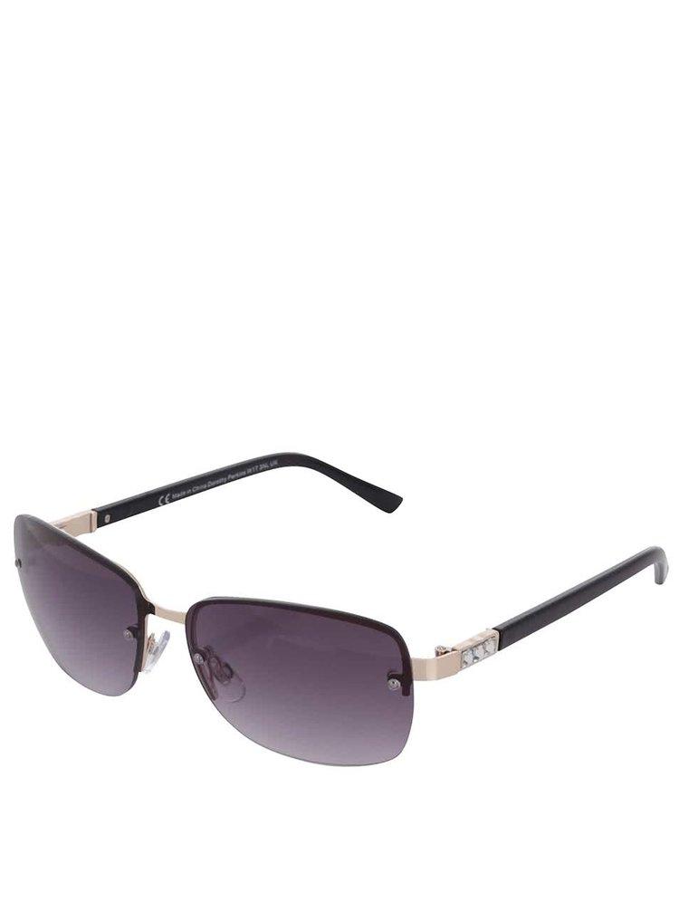 Černé sluneční brýle s kamínky na nožičkách Dorothy Perkins