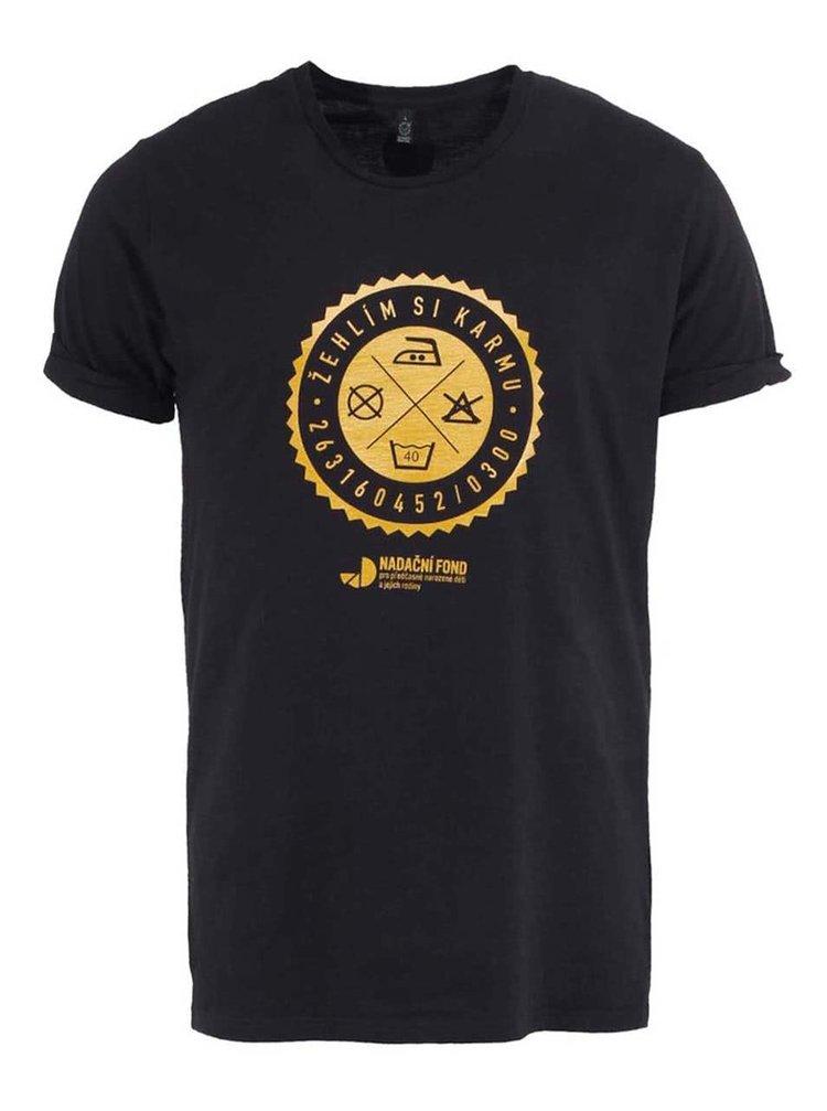 """""""Dobré"""" čierne pánske tričko pre Nadačný fond pre predčastne narodené deti a ich rodiny"""