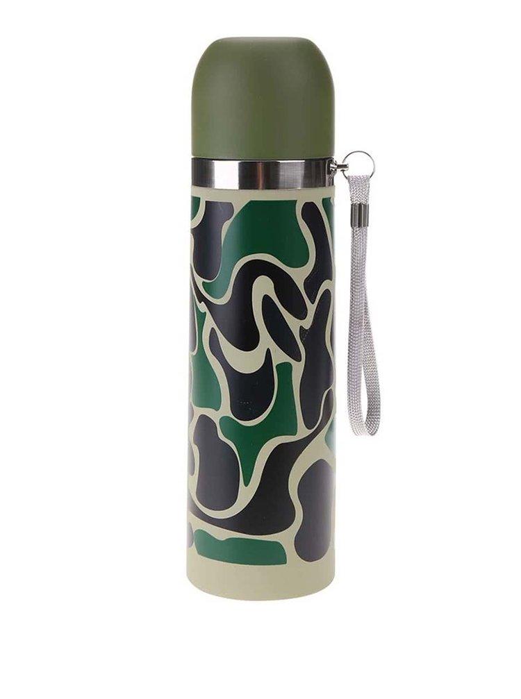 Termos verde camuflaj Kikkerland
