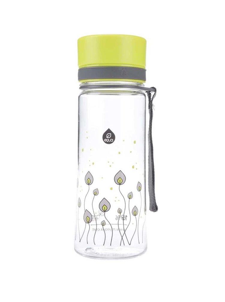 Plastová láhev s motivem zelených lístků EQUA (400 ml)