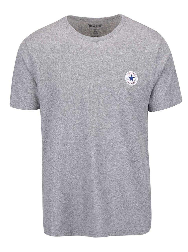 Sivé pánske tričko s malým logom Converse