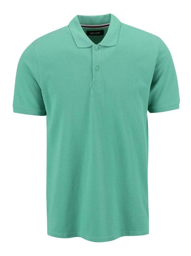 Zelené polo triko ONLY & SONS Pique