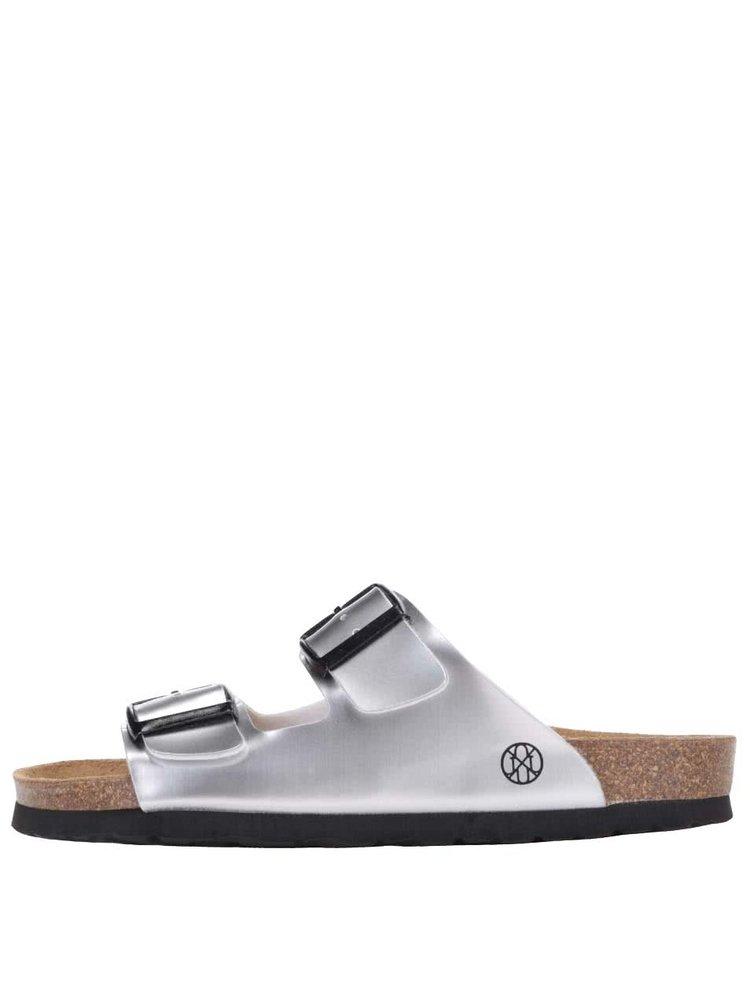 Papuci damă OJJU argintii