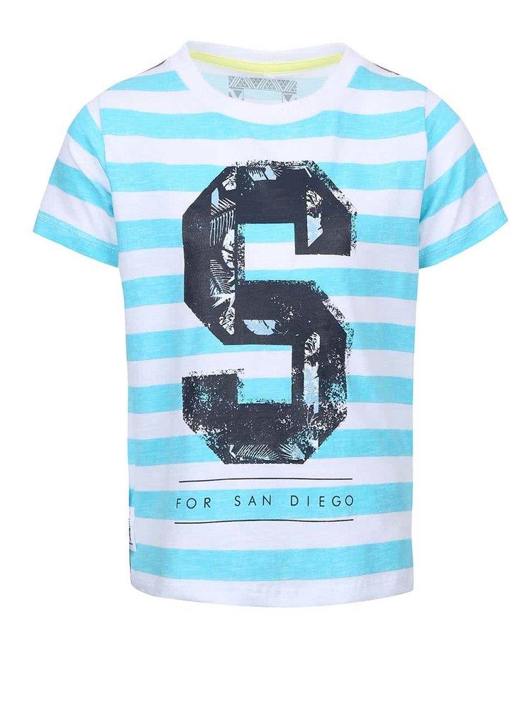 Tyrkysové chlapčenské tričko s pruhmi name it Tian