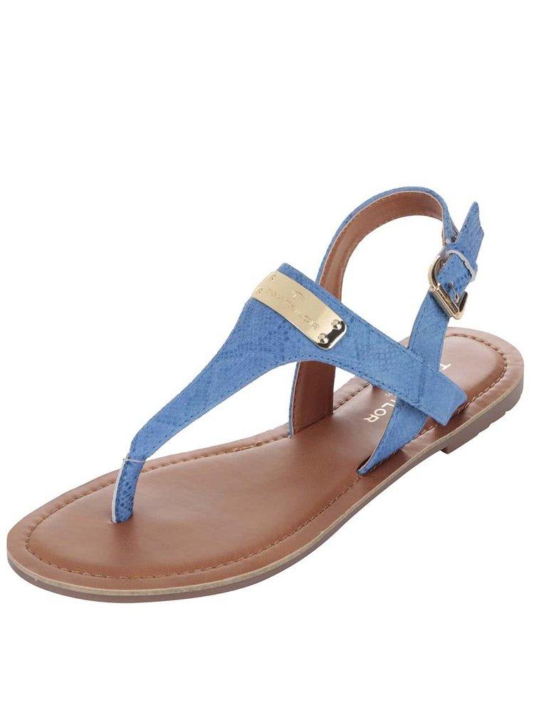 Modro-hnědé sandály s detaily ve zlaté barvě Tom Tailor