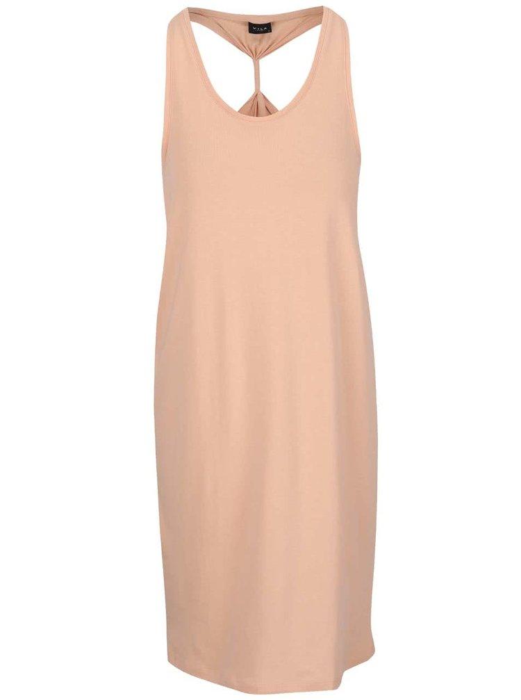 Meruňkové šaty VILA Honesty