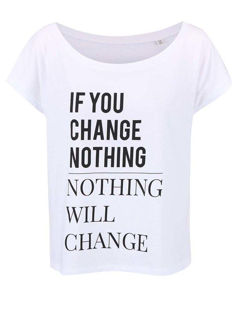 Biele dámske voľnejšie tričko ZOOT Originál Change