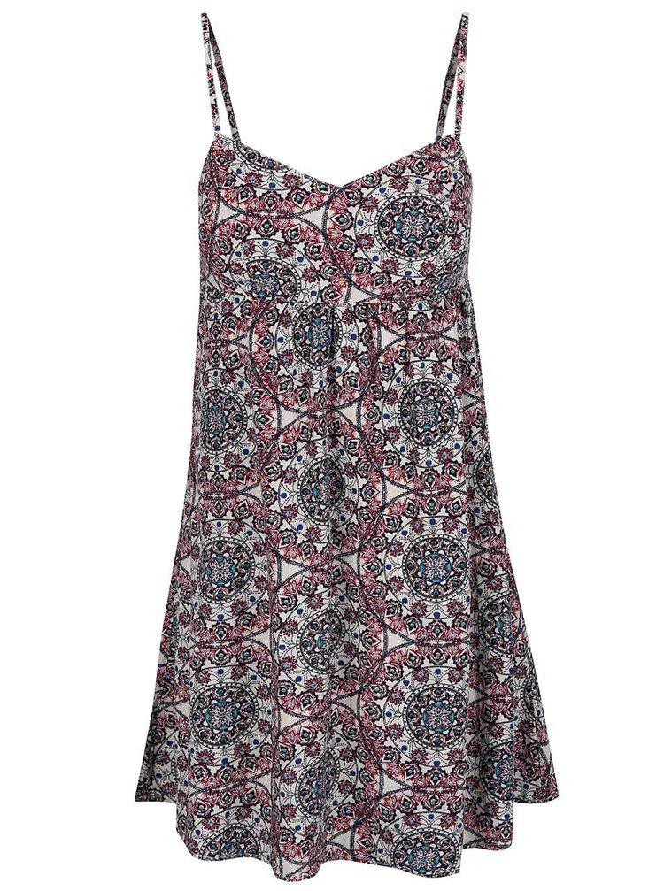 Krémovo-červené šaty ONLY Nova