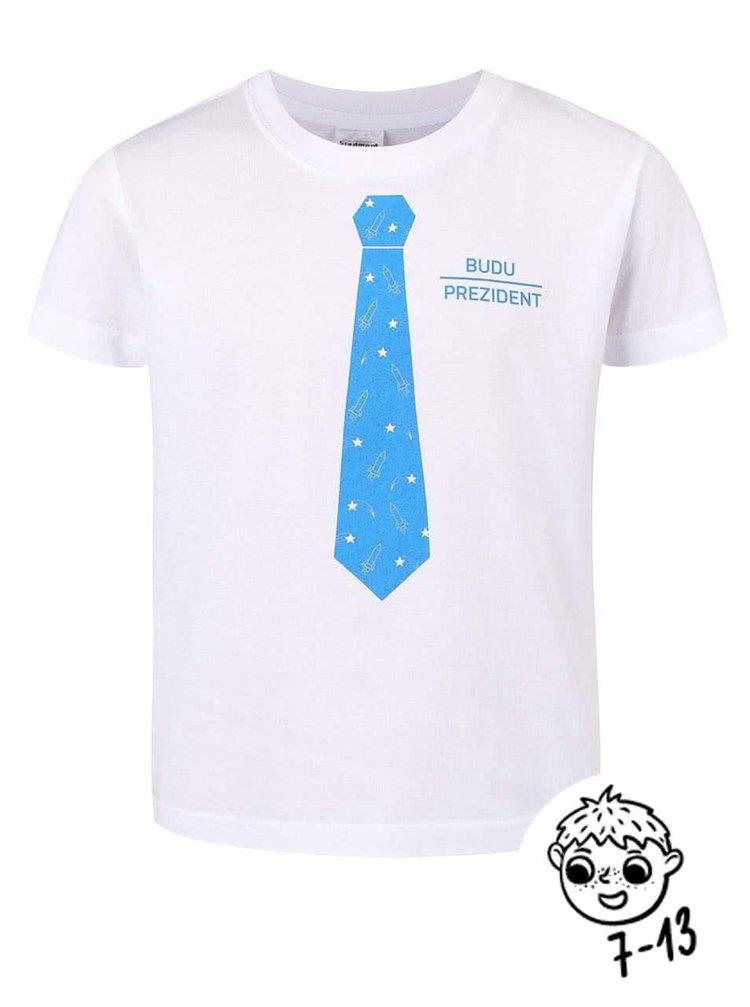 Bílé klučičí triko ZOOT Kids Prezident