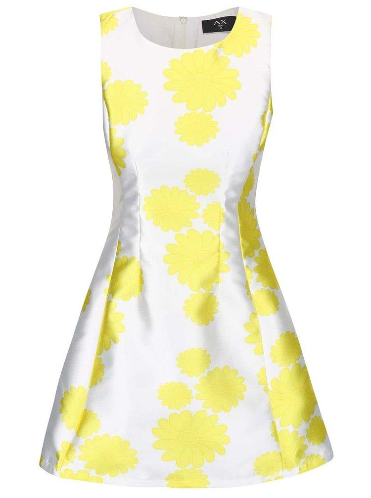 Biele šaty so žltými kvetmi AX Paris