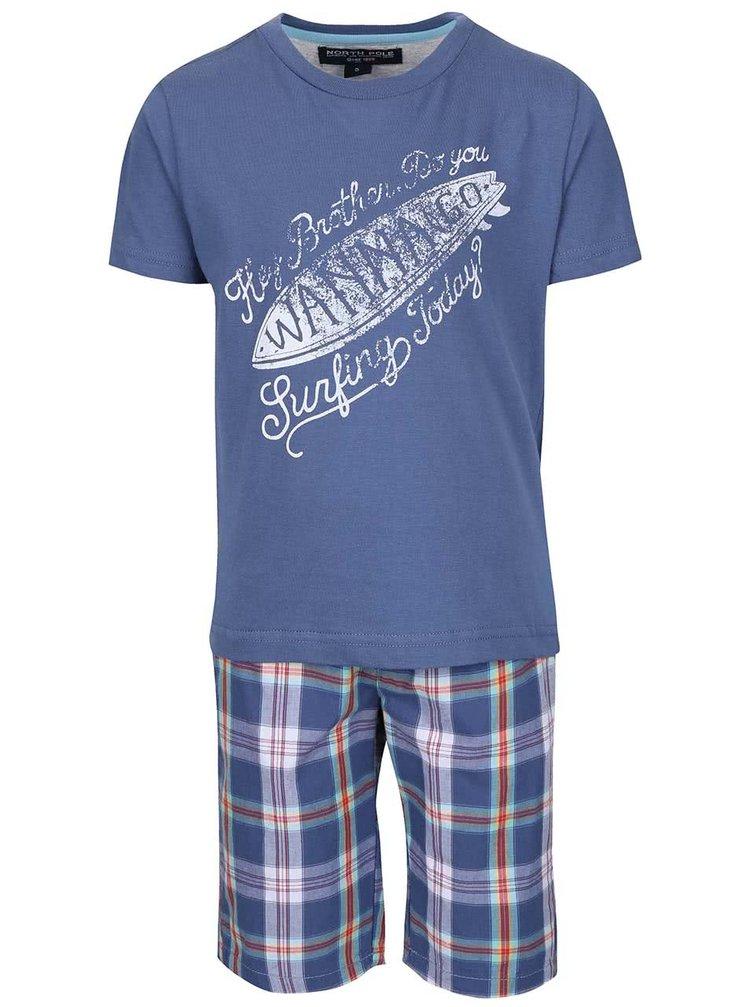 Set pantaloni scurți și tricou North Pole Kids albastru
