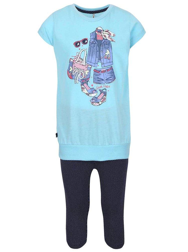 Set holčičích legín a trička v modré barvě North Pole Kids