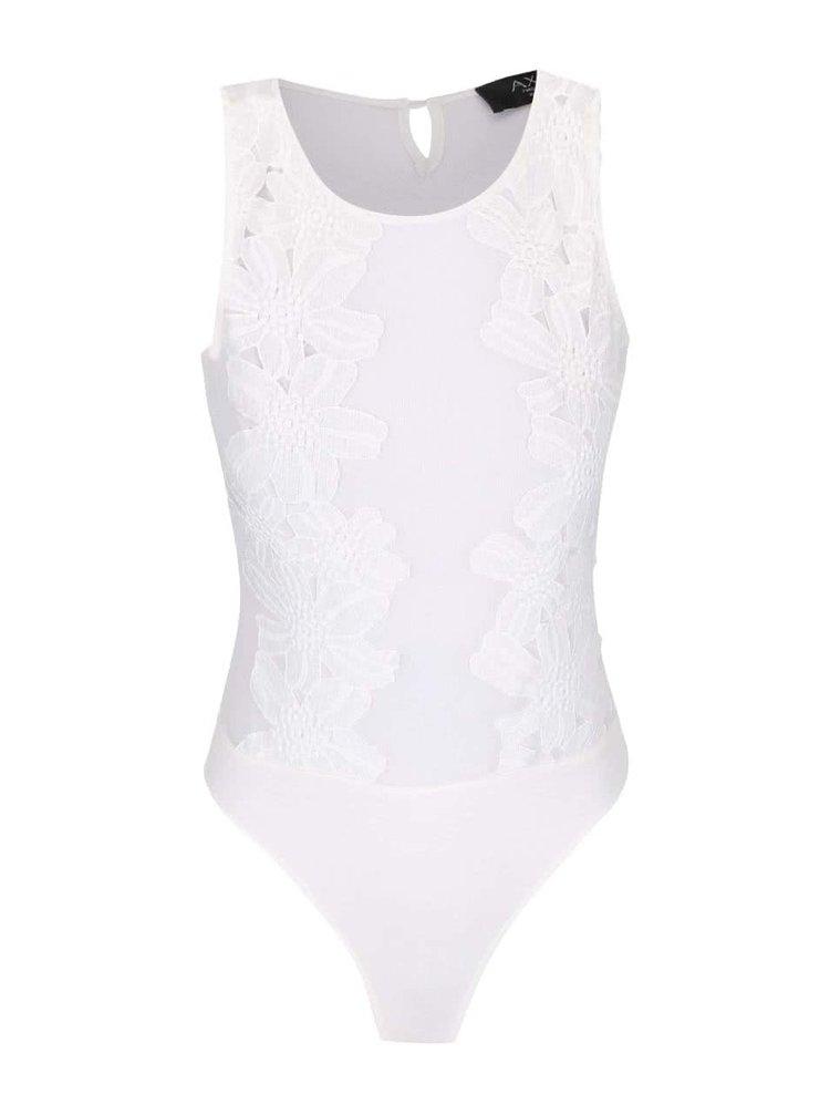 Body alb AX Paris cu dantelă