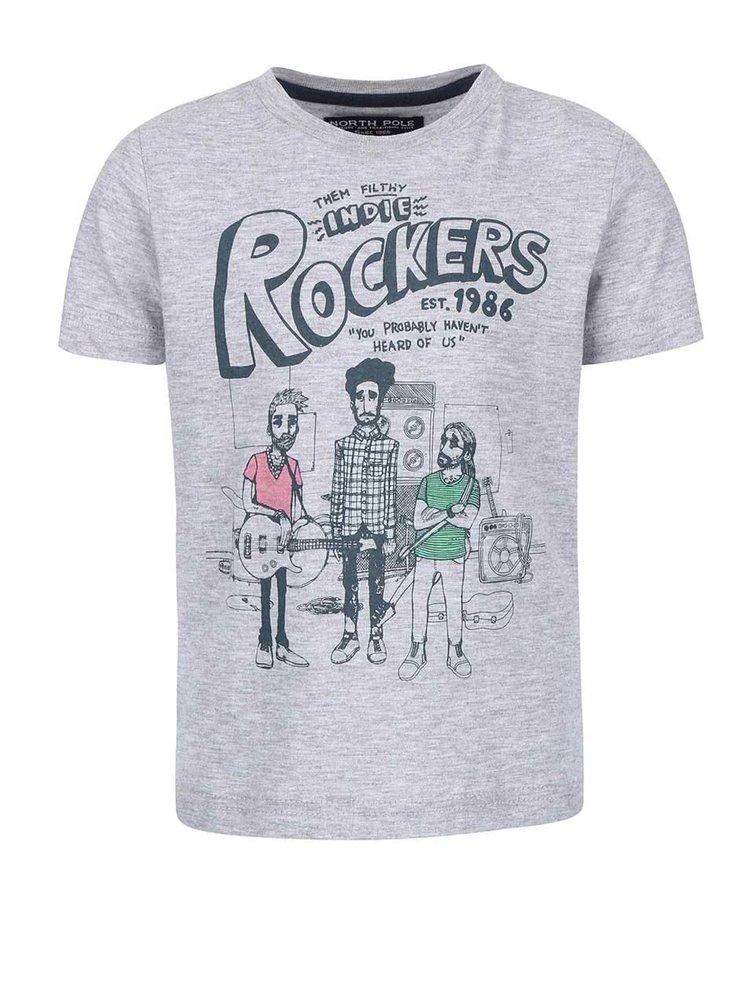 Tricou de băieți North Pole Kids gri cu print