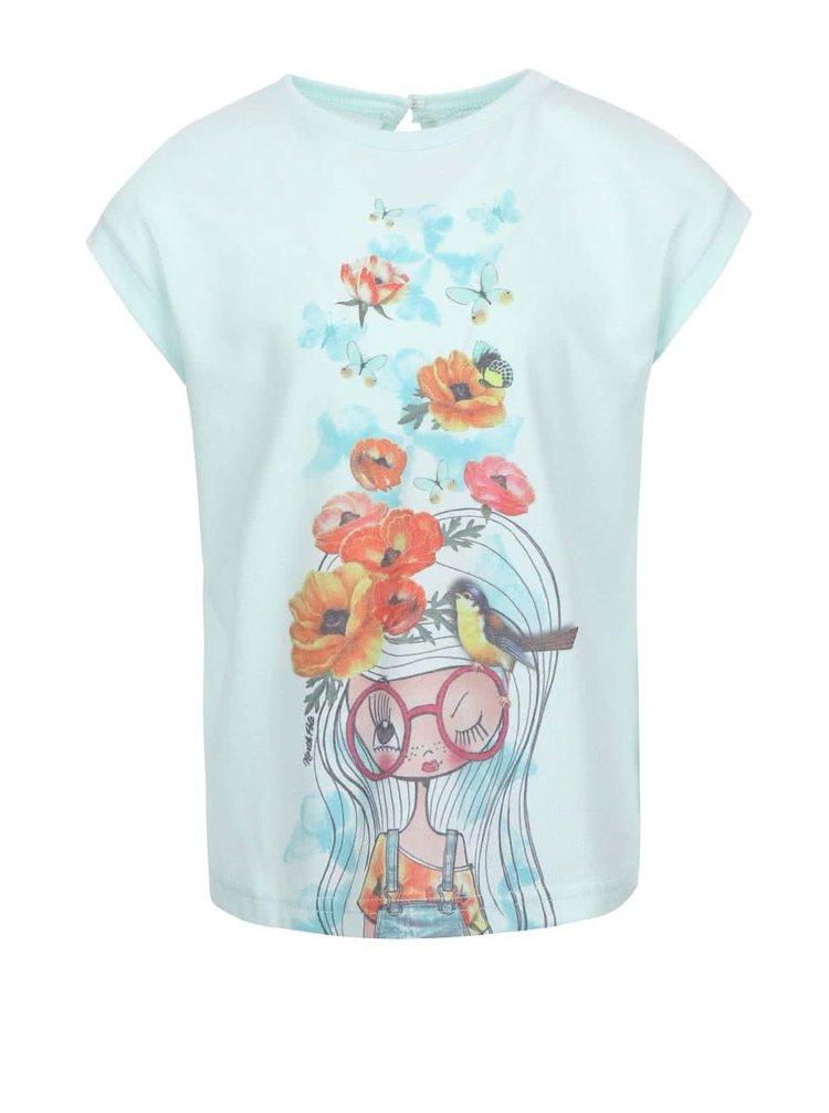 Tyrkysové holčičí oversize tričko s potiskem North Pole Kids