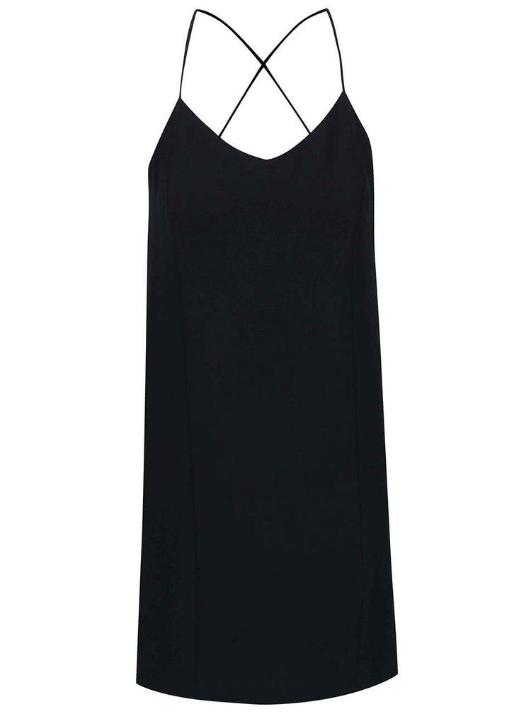 Tmavomodré šaty na ramienka ICHI Bess
