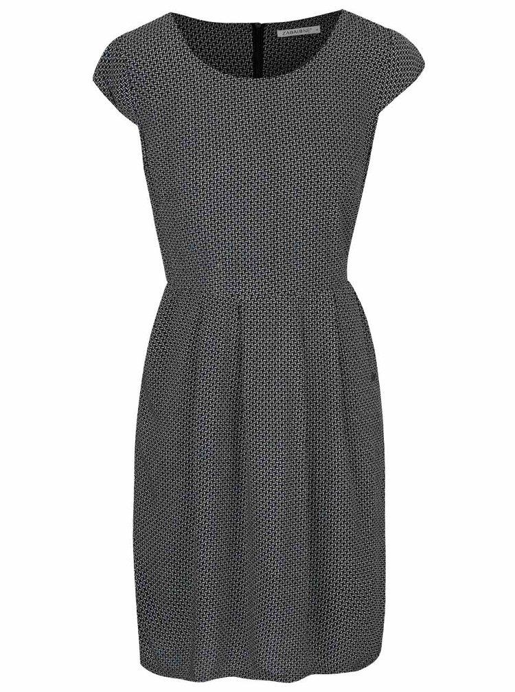 Čierne vzorované šaty Zabaione Kleid Kathy