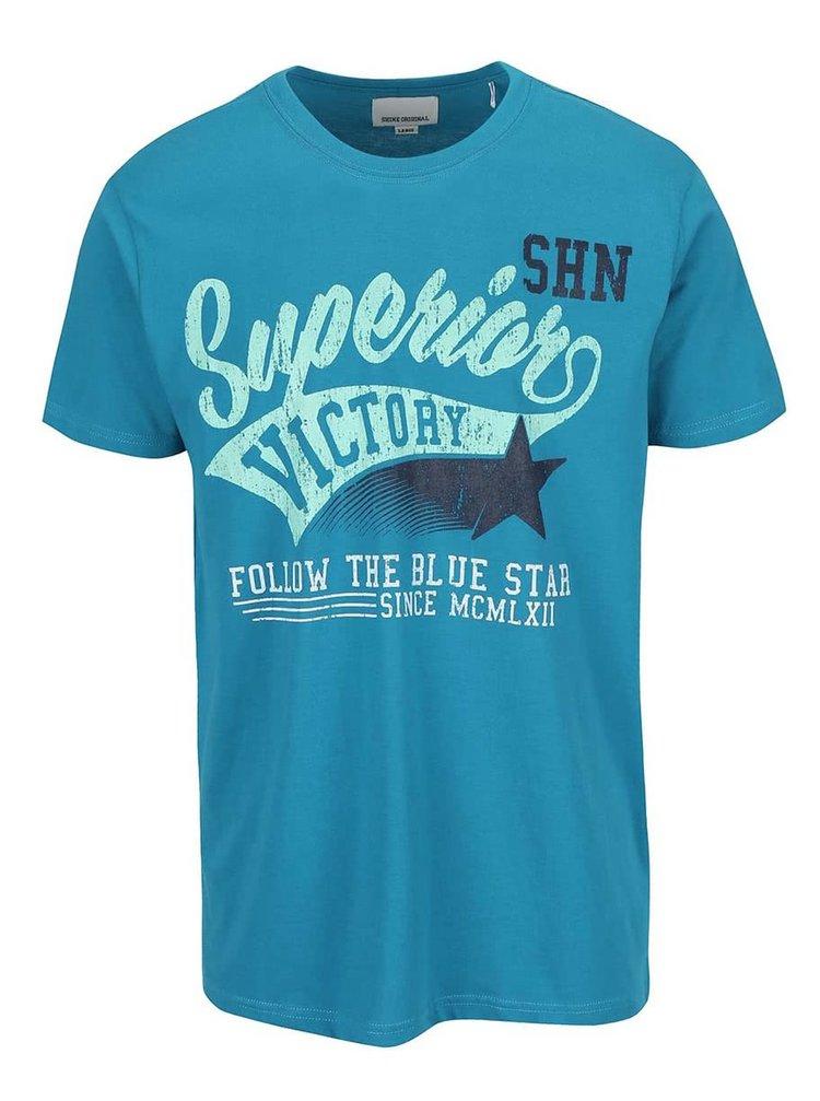 Modré tričko s potlačou Shine Original Rider