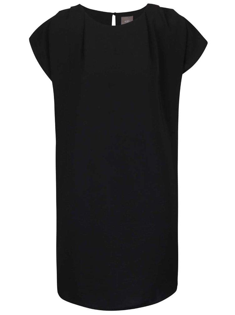 Čierne voľné šaty ICHI Fay