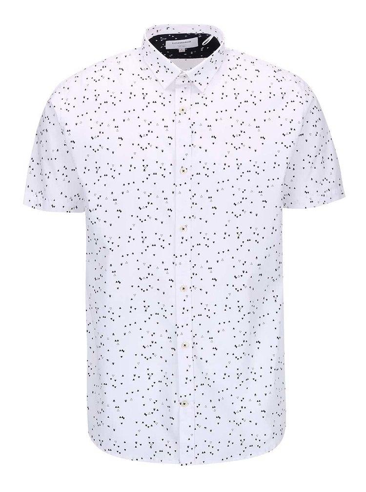 Bílá košile se vzorem Lindbergh Gibson Out