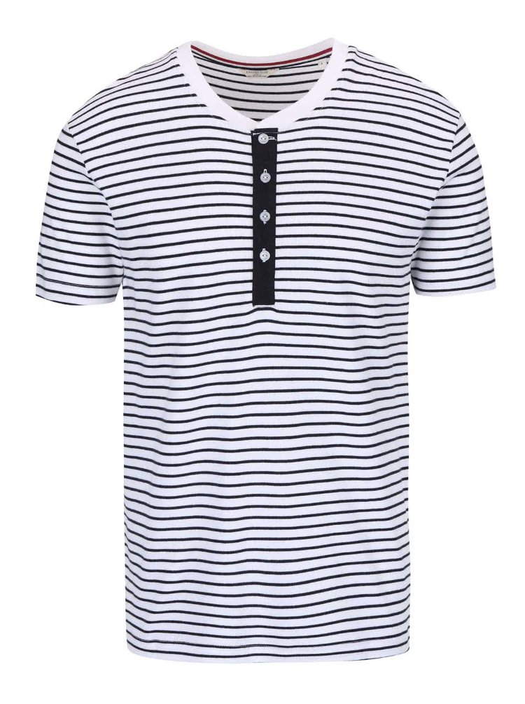 Biele pruhované tričko Lindbergh Sprit