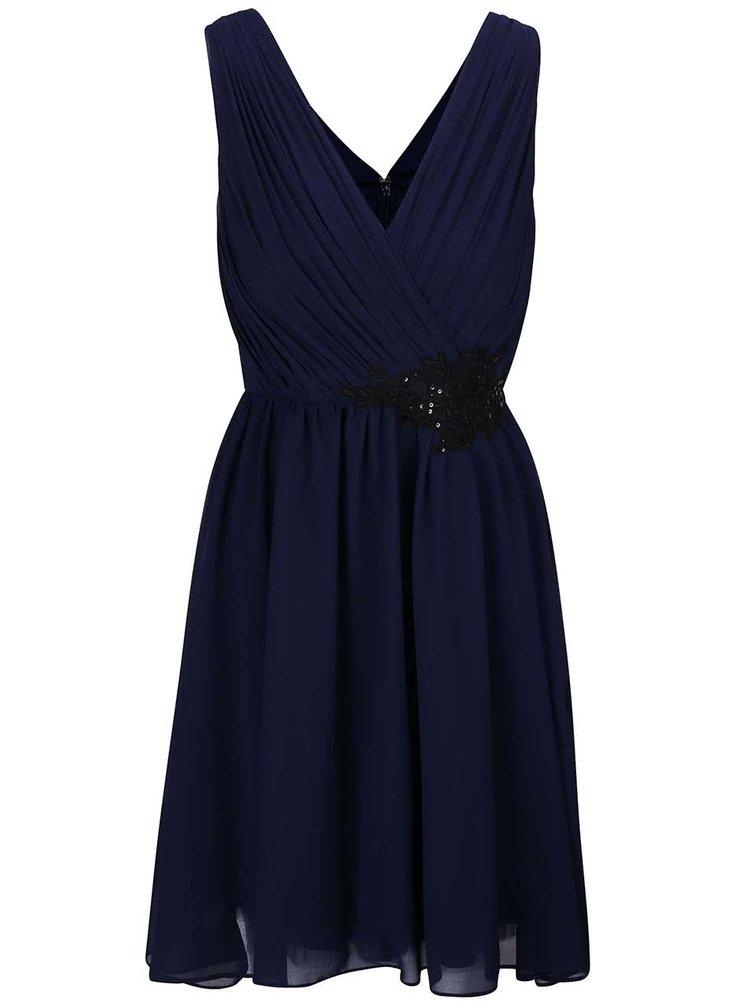 Tmavě modré šaty se zdobením Little Mistress