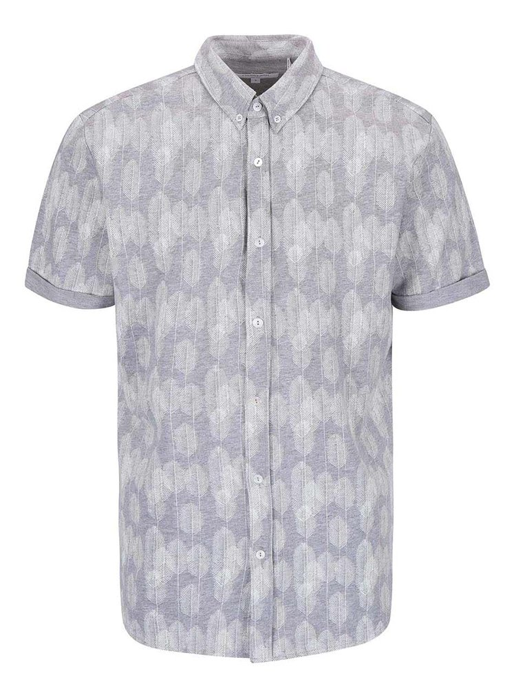 Šedá vzorovaná košile Lindbergh Gibson Out