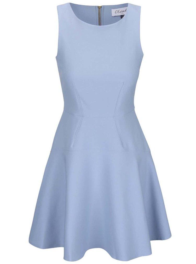 Svetlomodré šaty bez rukávov Closet