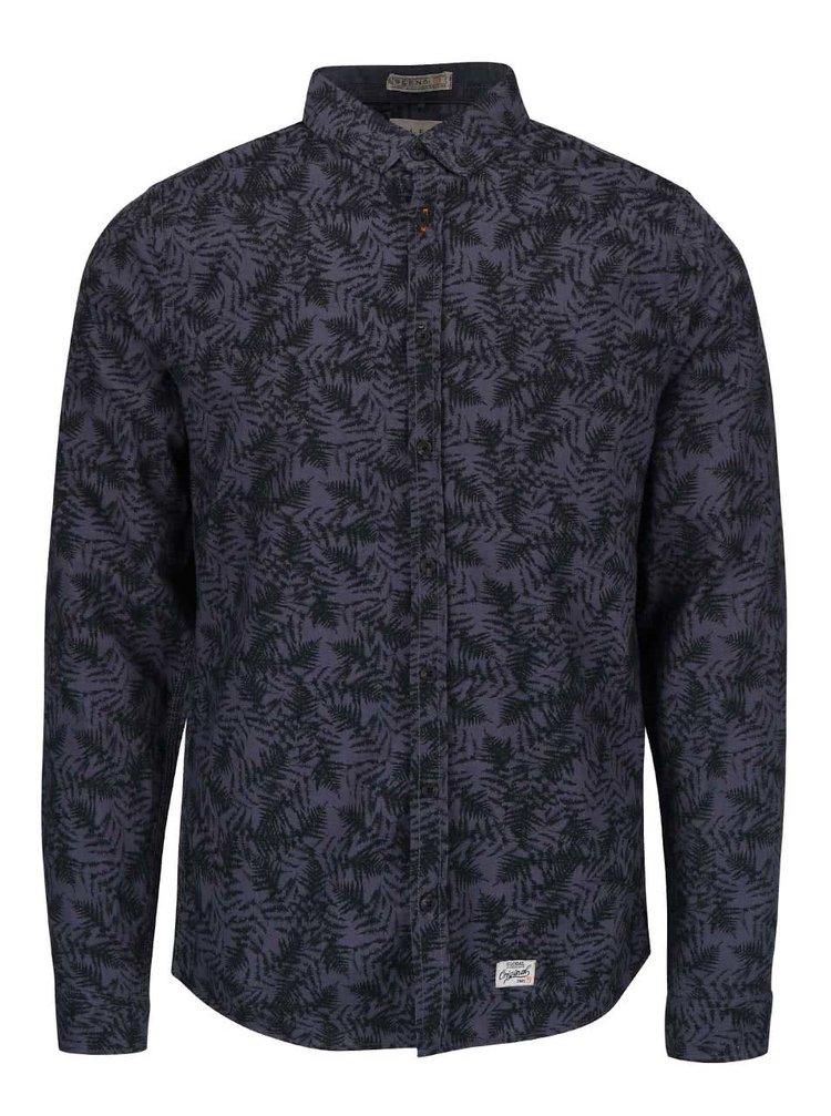 Tmavě modrá slim košile se vzorem Blend