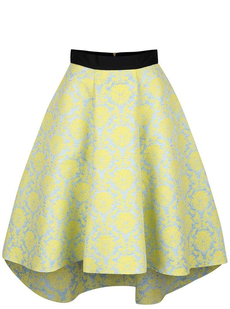 Modro-žltá sukňa so vzorom Closet