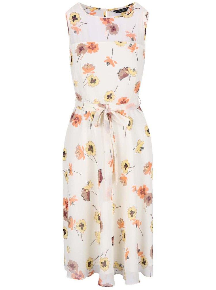 Krémové květované šaty Dorothy Perkins