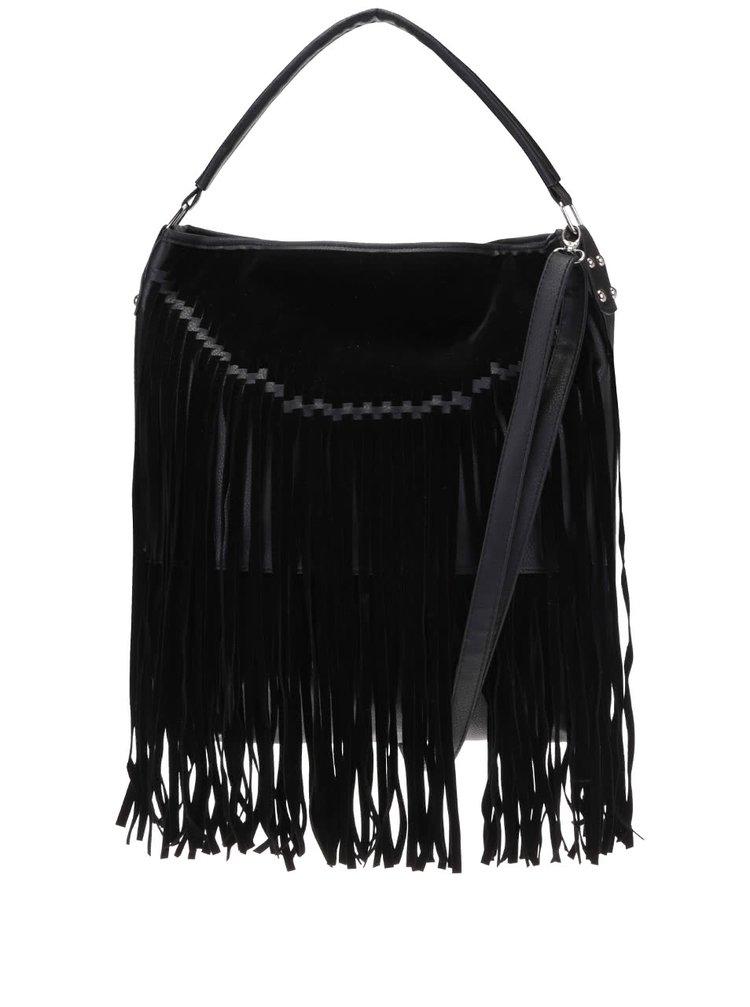 Černá kabelka s třásněmi Haily´s Franzi