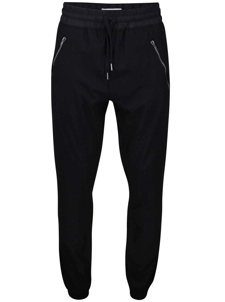 Černé vlněné kalhoty Lindbergh
