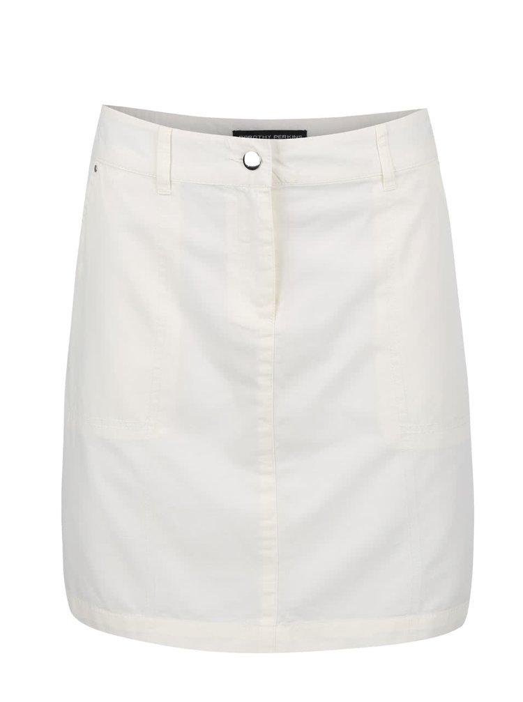 Krémová sukňa s vreckami Dorothy Perkins
