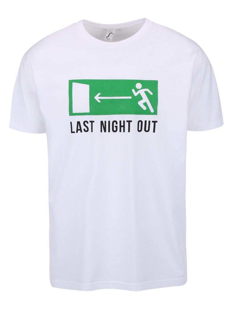 Biele pánske tričko ZOOT Originál - Last Night Out