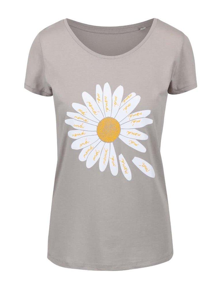 Sivé dámske tričko ZOOT Originál Sedmokráska