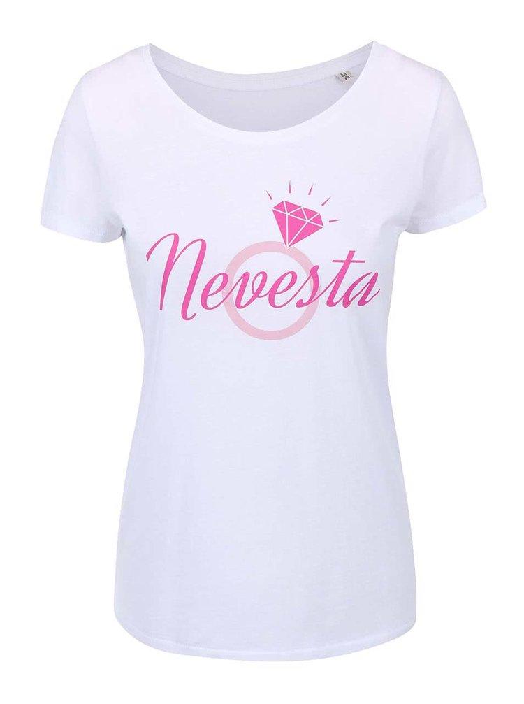Bílé dámské tričko ZOOT Originál Nevesta