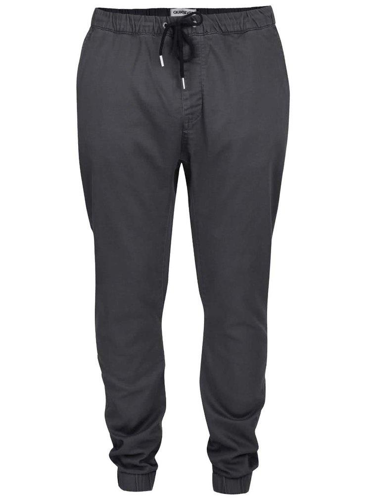 Šedé pánské kalhoty se zavazováním Quiksilver Krandy Straight