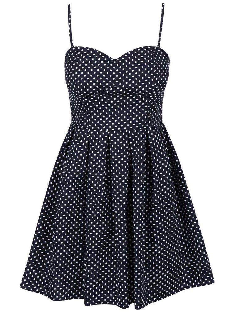 Tmavomodré šaty s odopínateľnými ramienkami Apricot